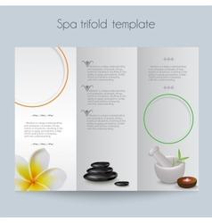 Tri-foldSpa BrochureMock Up vector image