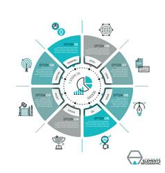 Unique infographic design template circular vector