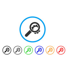view configuration gear rounded icon vector image vector image