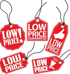 Low price tag set vector
