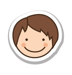Happy child face icon image vector