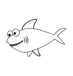 fish cartoon icon image vector image