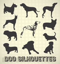 Collection of dog silhouettes vector