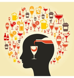 Alcohol a head vector image