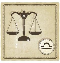 Astrological sign - libra vector