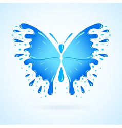 Butterfly water aqua blue splash drops vector