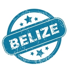 Belize round stamp vector