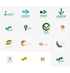 Set of universal company logo ideas business icon vector