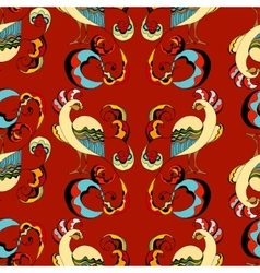 peacocks background vector image