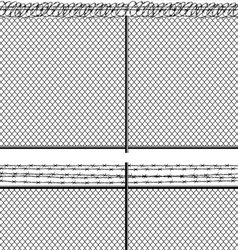 Mesh netting and barbed wire vector