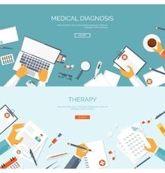 Flat medical background vector
