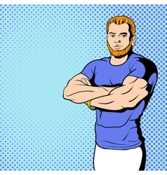 Fitness instructor comics vector