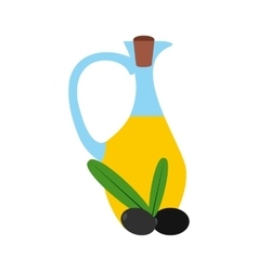 Bottle of olive oil icon flat style vector