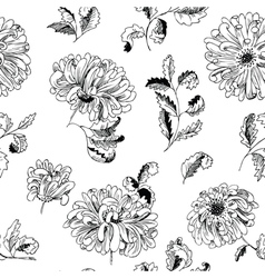 floral minimalistic seamless pattern vector image