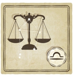 Astrological sign - libra vector