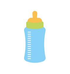 baby shower bottle milk little decorative vector image vector image