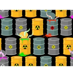Biohazard seamless pattern Open barrels of vector image vector image