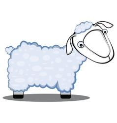 children cartoon of a sheep vector image vector image