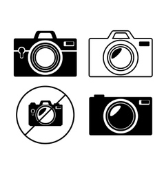 collection camera photo monochrome design graphic vector image vector image