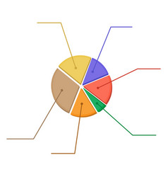 Colorful business chart pie vector