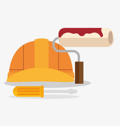 construction set tools icon vector image