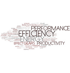 Efficiency word cloud concept vector