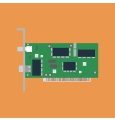 Ethernet card vector