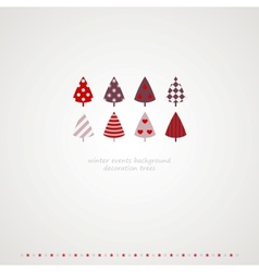 Fir-trees winter events background vector image