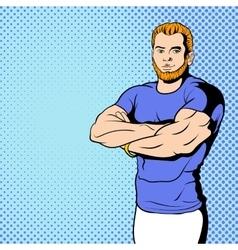Fitness instructor comics vector