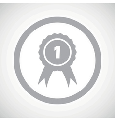 Grey 1st place sign icon vector