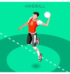 Handball 2016 Summer Games 3D Isometric vector image vector image