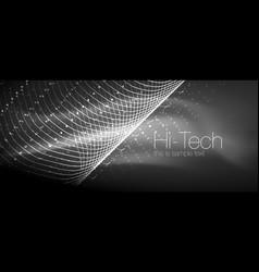 Hi-tech futuristic techno background neon shapes vector