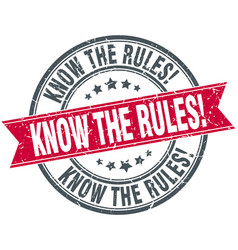 Know the rules vector