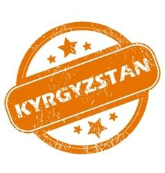Kyrgyzstan grunge icon vector image vector image