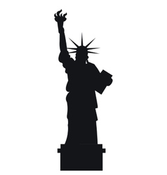 liberty statue new york city vector image vector image