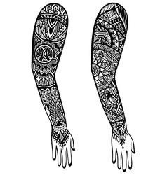 Maori style tattoo design vector