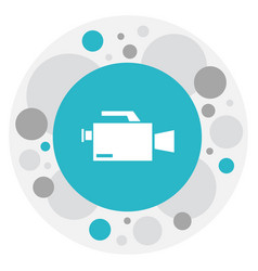 of filming symbol on camcorder vector image vector image