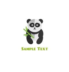 Panda with bamboo vector
