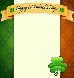 Poster irish pattern flag vector