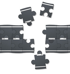road consists of pieces of the puzzle vector image