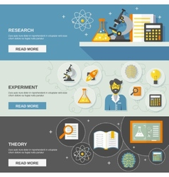 Science and research banner vector