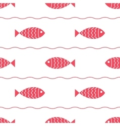 Seamless nautical pattern with fish vector image vector image