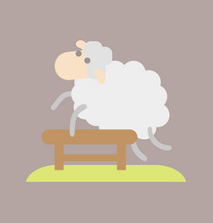 Sleep cute cartoon sheep icon vector
