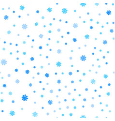 Snowflakes seamless pattern falling isolated vector