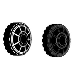 two car wheels vector image