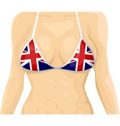 UK flag bikini vector image vector image