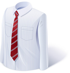 White shirt with tie vector