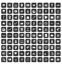 100 e-commerce icons set black vector