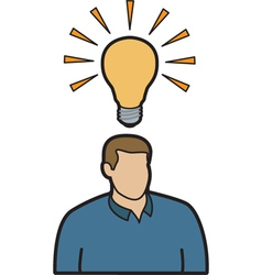 Man with idea vector