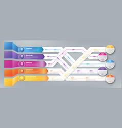 Infografics arrows shuffled vector